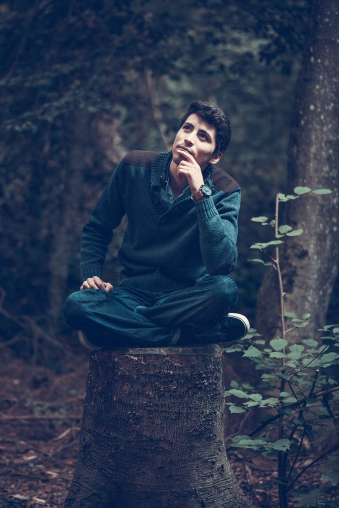Boy Pondering